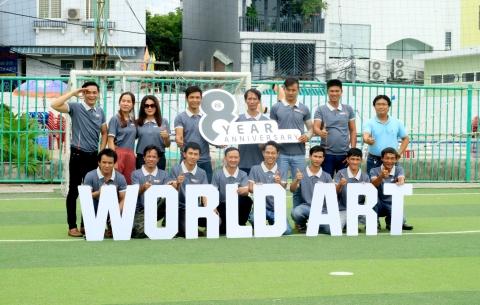 Chúc mừng kỷ niệm 8 năm thành lập công ty WORLD ART
