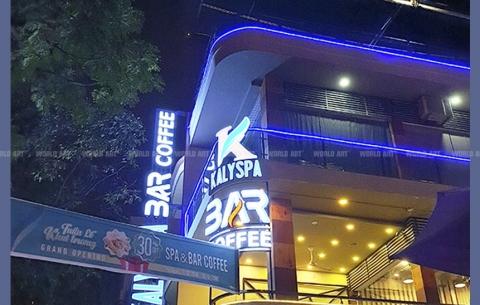 13/ KALY SPA & BAR COFFEE/ Thiết kế và thi công bảng hiệu