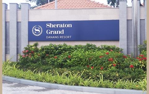 14/ SHERATON RESORT / Thiết kế và thi công bảng hiệu