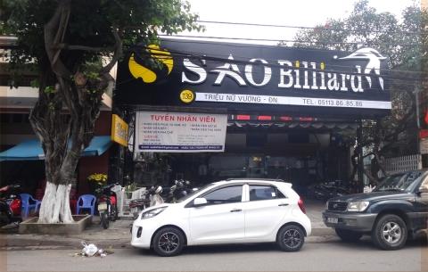 1/ Sao Billiards Club/ Thiết kế và thi công lắp đặt bảng hiệu quảng cáo mặt tiền